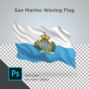 산 마리노 깃발 물결 디자인 투명