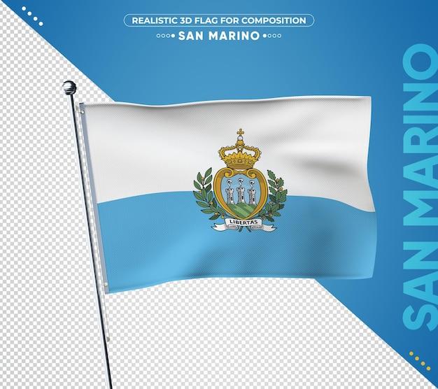 현실적인 스타일의 산 마리노 국기