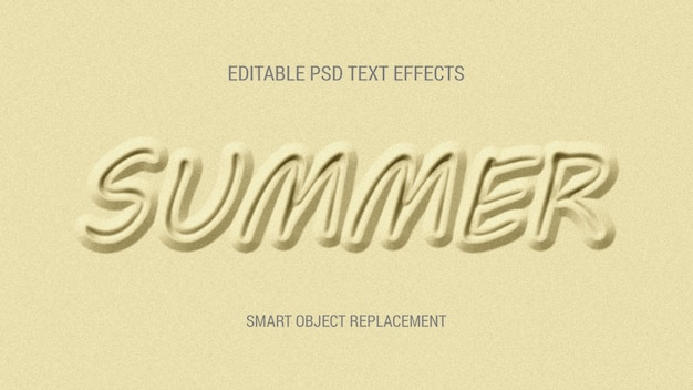 Sand scratch editable text effects