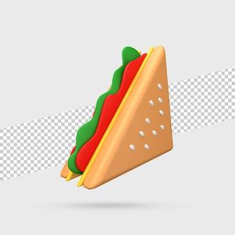 샌드위치 3d 렌더링