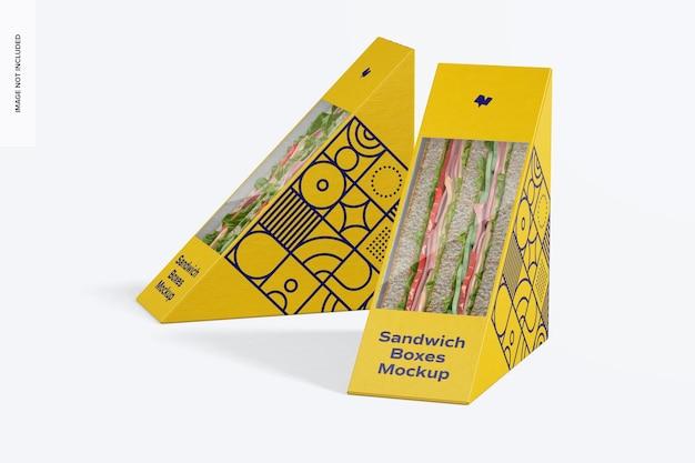 Мокап коробки для сэндвичей