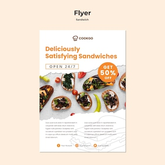 Sandwich concept flyer template