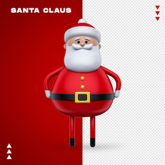 Santa claus 3d in 3d rendering