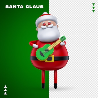 Santa claus 3d rendering isolated