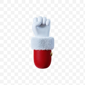 Santa claus cartoon hand fist gesture