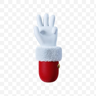 Santa claus cartoon hand gesture