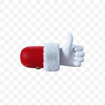 Santa claus cartoon hand like gesture