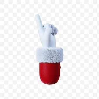 Santa claus cartoon hand point gesture