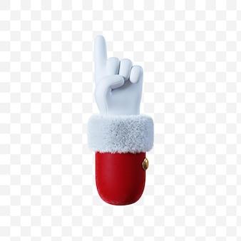 Santa claus cartoon hand pointing gesture