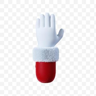 Santa claus cartoon hand relax gesture