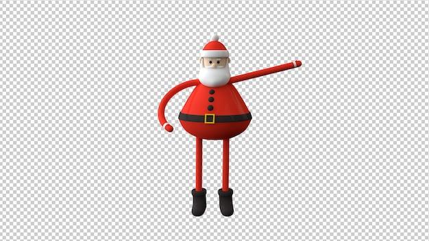 3d 그림에서 격리하는 산타 클로스 캐릭터