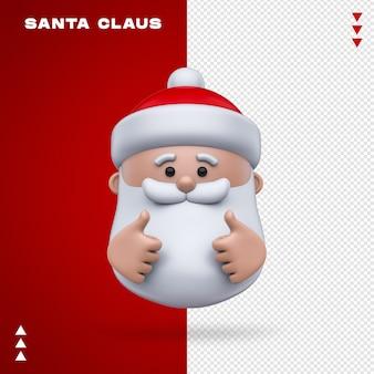 Санта-клаус emoji в 3d-рендеринге