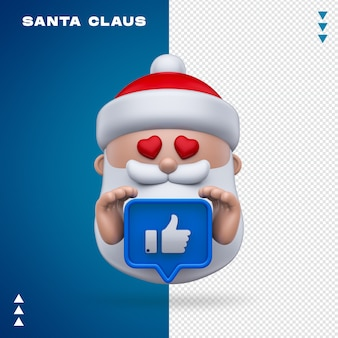 Santa claus like 3d rendering isolated