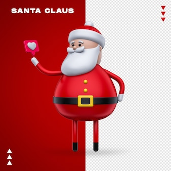 Santa claus like in 3d rendering
