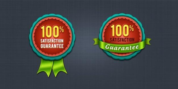 Satisfaction guarantee badge & seal  psd
