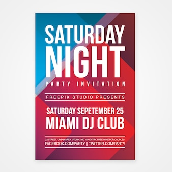 Saturday night party poster