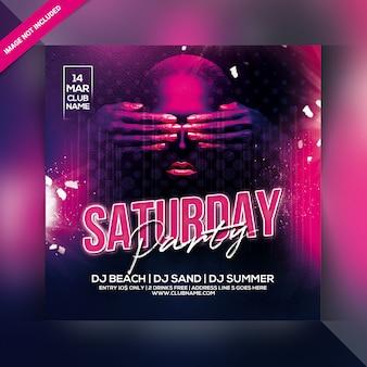 Saturday party flyer