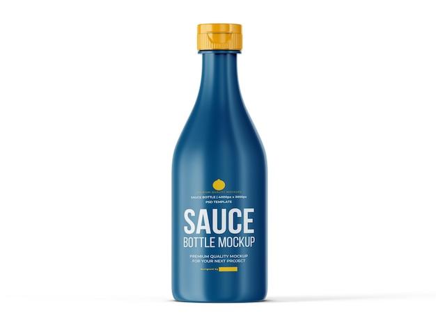 Шаблон мокапа бутылки соуса