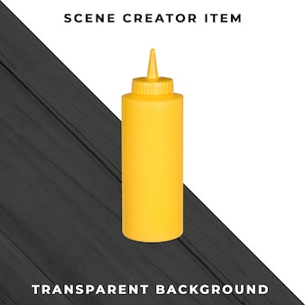 Бутылка для соуса на прозрачном фоне