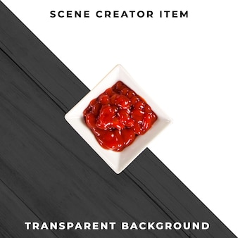 Sauce plate object transparent psd