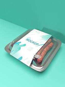 Sausage packaging mockup