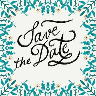 Save the date flower invitation
