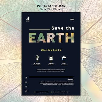 Save the earth flyer style