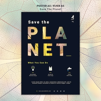 Save the earth poster style
