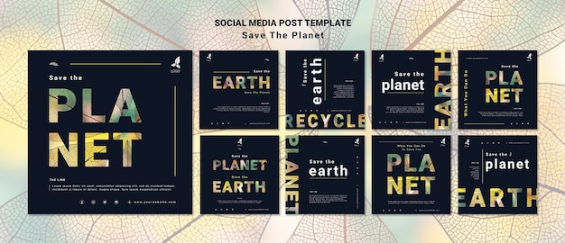 Save the earth social media post