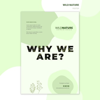 Save forests wild nature poster template
