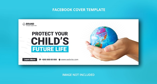 Save the nature facebook cover banner template