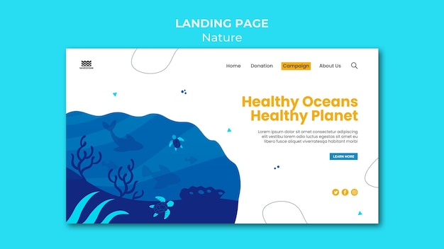 Salva il modello della pagina di destinazione degli oceani