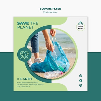 Save the planet concept mock-up