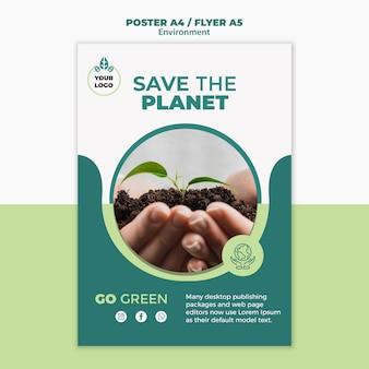 Salvare il concetto di pianeta mock-up Psd Gratuite