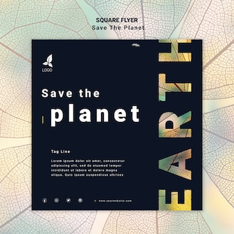 Save the planet flyer