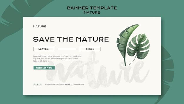 Сохраните шаблон баннера природы