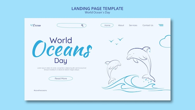Save the underwater world landing page