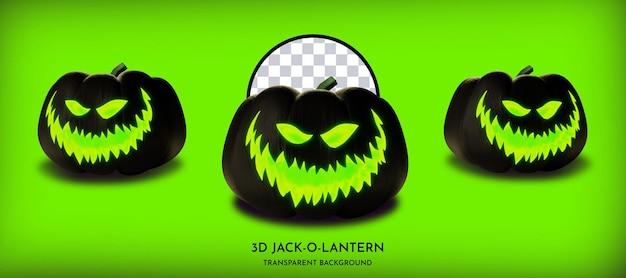 무서운 어두운 호박 할로윈 jackolantern 3d 스타일