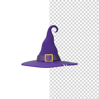 Scarywitch hat 3d render model isolated white background halloween party costume