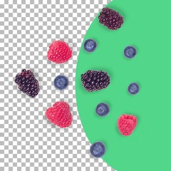 Разбросанные ягоды, изолированные на прозрачном