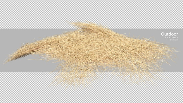 Scattered straw