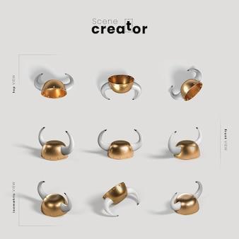 Creatore di scene carnevale cappello d'oro