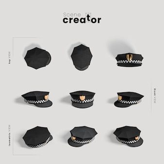 Scene creator carnival policeman hat