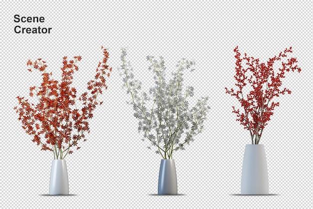 Создатель сцены цветы растения отдельные элементы