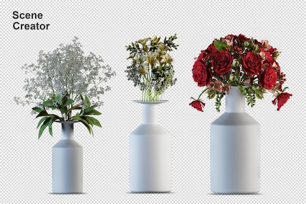 シーンクリエーター花は別々の要素を植えます Premium Psd