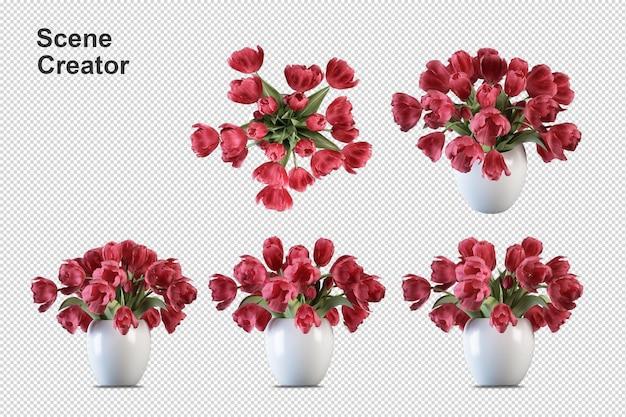 シーンクリエーターの花は要素を分離します