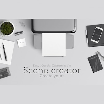 Scene creator mock up