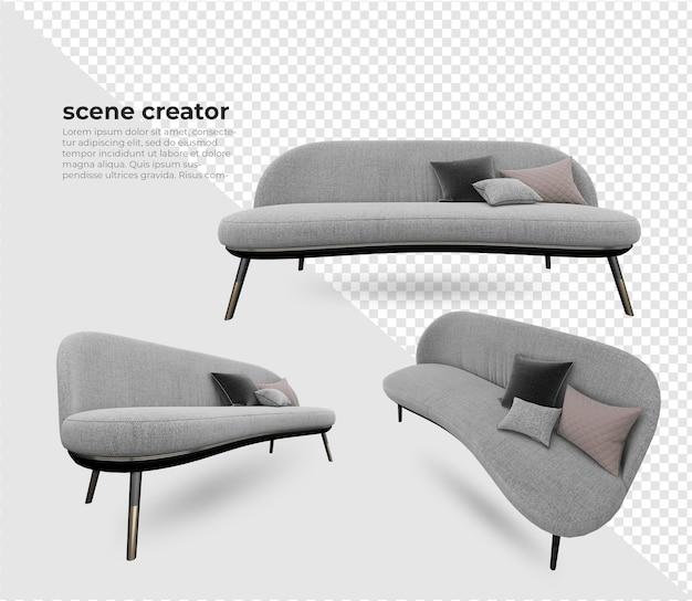 シーンクリエーターソファと枕の装飾デザイン