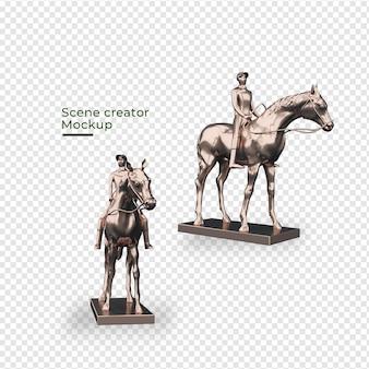 말 장식 디자인으로 장면 창조자