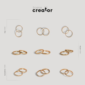Scene creator with wedding rings